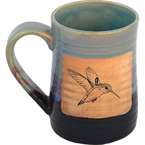 Hummingbird 17 Oz Small Tankard in Mountain Waves glaze