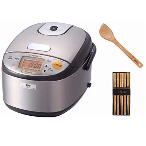 Zojirushi NP-GBC05 3-Cup Rice Cooker w Chopsticks 5-Pack 15 Stir Fry Spatula