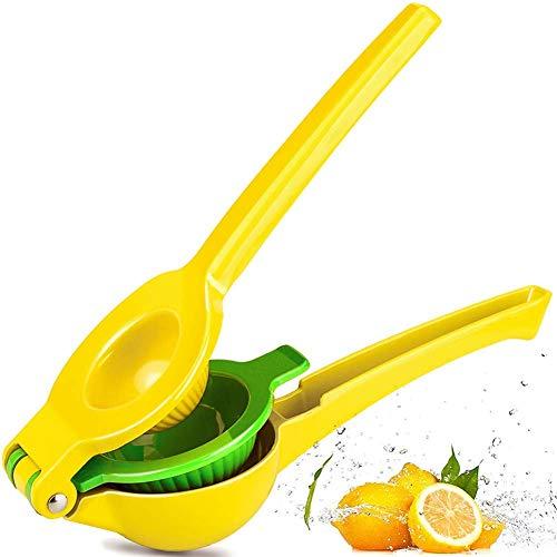 Top Rated Premium Quality Metal Lemon Lime Squeezer - Manual Citrus Press Juicer Citrus Juicers Aluminum Lime Squeezers Yellow