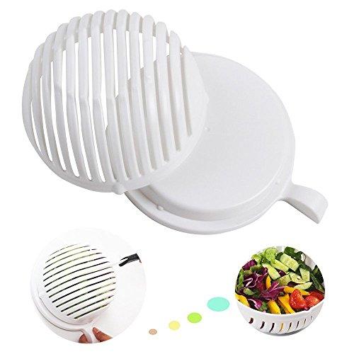 LARATH Salad Cutter BowlSalad Chopper Vegetable Cutter Bowl- Make Your Salad in 60 Seconds