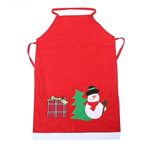 Whitelotous Christmas Dinner Cooking Apron Kitchen Apron Party Costumes DecorSnowman