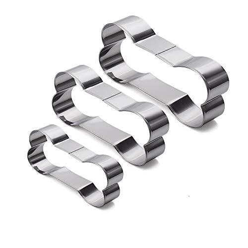 Homy Feel Stainless Steel Dog Bone Cookie Cutter Set 3-Piece