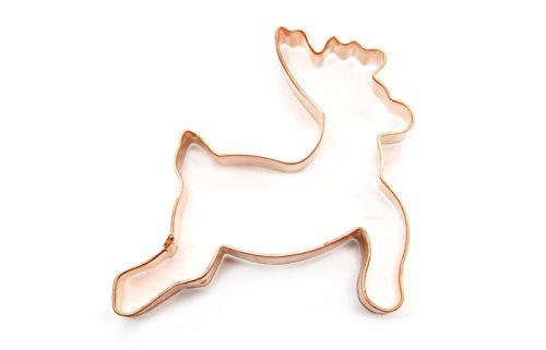 ShengHai Copper Reindeer Cookie Cutter – Favorite Holiday Reindeer Cookie Mold