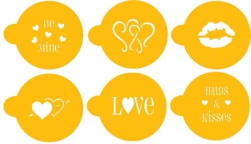 Designer Stencils C096 Valentine CupcakeCookie Stencils BeigeSemi-Transparent