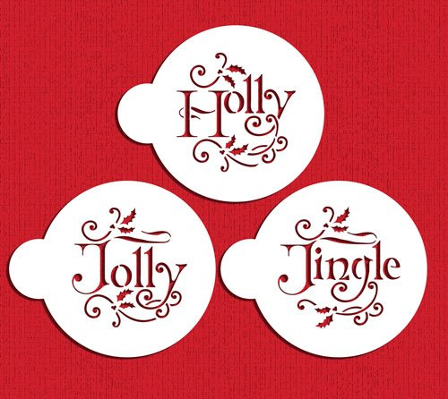Holly Jolly and Jingle Cookie Stencil Set C978 by Designer Stencils