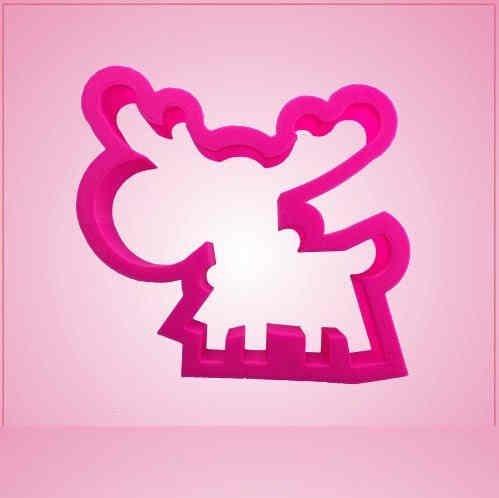 Pink Melissa Moose Cookie Cutter