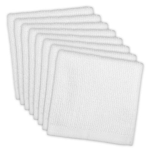 DII Bar Mop Dishcloth Set of 8 White