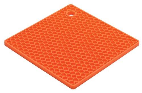Silicone Pot Holders Silicone Trivets Premium Quality Heat Resistant - Multi-purpose Trivet Mat Jar Opener Trivet Set of 1 Pack Non Slip450 Heat Resistant Dishwasher Safe Tableware Mat Orange