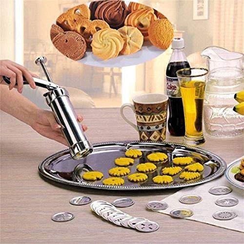 Lantusi Aluminum Alloy Biscuit Press Cookie Maker Machine Mold Kitchen Bake Tools Cookie Presses