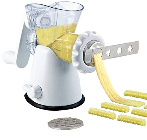Tredoni Manual Meat Mincer Grinder Vegetable Shredder Biscuit Machine Cookie Maker  Biscuits Patterns Attachment White