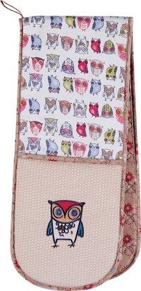 Twitter Owl Design Double Oven GlovesMitts - Ulster Weavers