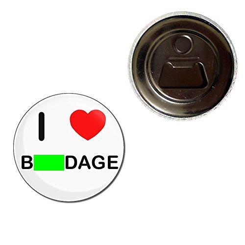 I Love Bondage - 55mm Fridge Magnet Bottle Opener