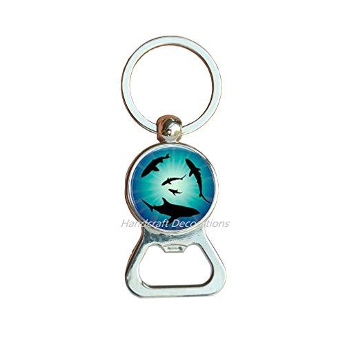 Shark Charm Bottle opener KeychainShark Bottle opener Bottle opener Keychain Animal Bottle opener Keychain Animal Jewelry Ocean Bottle opener Keychain Beach Jewelry GiftF225