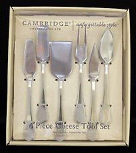 Cambridge Flatware 6-Piece Charm Mirror Cheese Tool Set