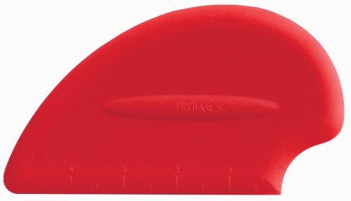 iSi North America B10001 Silicone Pastry  Bench Scraper Spatula Red