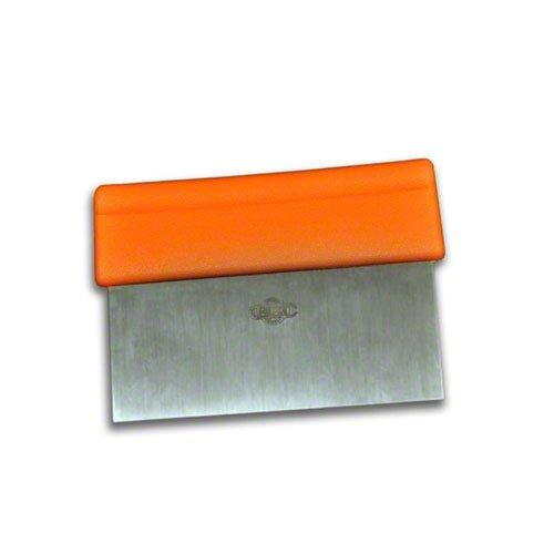 Dexter-Russell  6-inch by 3-inch ScraperDough Cutter Orange Handle