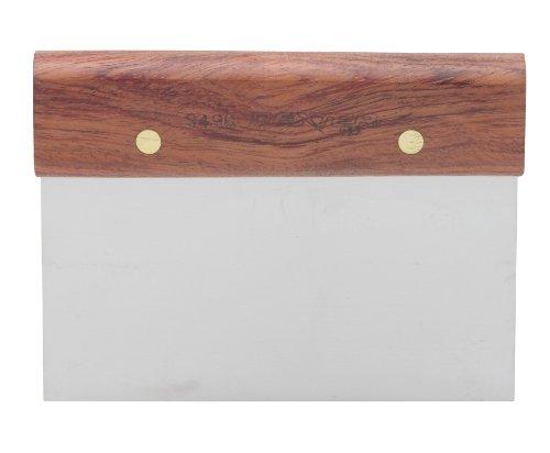 Dexter-Russell Walnut Dough Scraper Stainless Steel 6-by-3-Inch