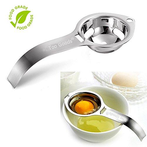Egg Separator Egg Yolk White Filter Food Grade Egg Divider Stainless Steel Egg Sieve Kitchen Gadget CookingBaker Tool Egg Extractor