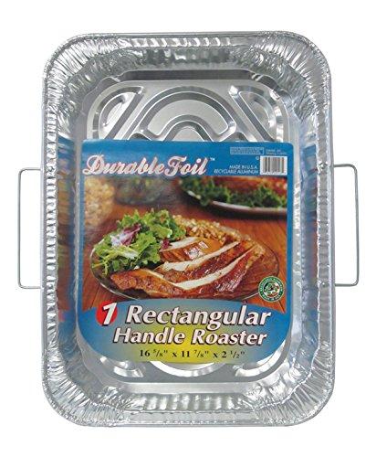 Durable Foil Rectangular Handle Aluminum Roasting Pan 18 x 13-516 x 2-58 Pack of 12