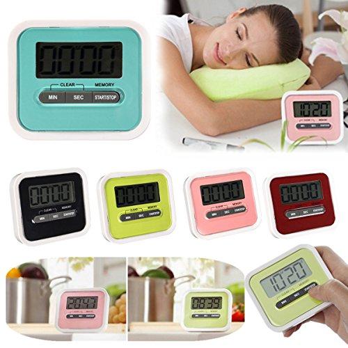 Bazaar Magnetic Digital LCD Kitchen Timer Count Up Down Egg Cooking Timer