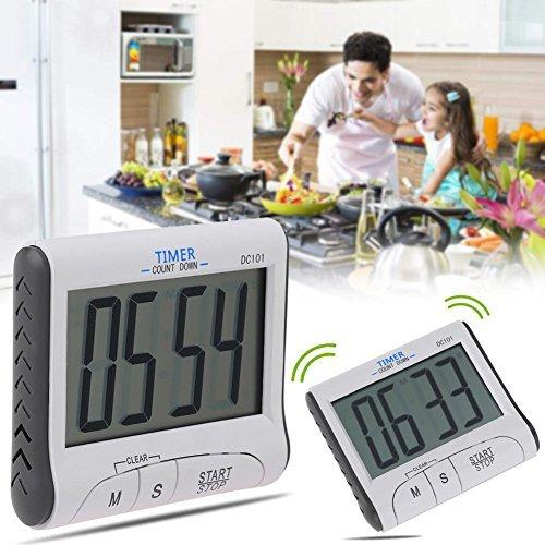 Whitelotous Electronic Digital LCD Countdown Timer Cooking Alarm Tool Kitchen Supplies