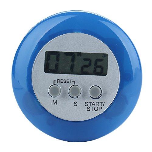 niceeshopTM Mini Round LCD Digital Cooking Kitchen Countdown Timer Alarm Blue