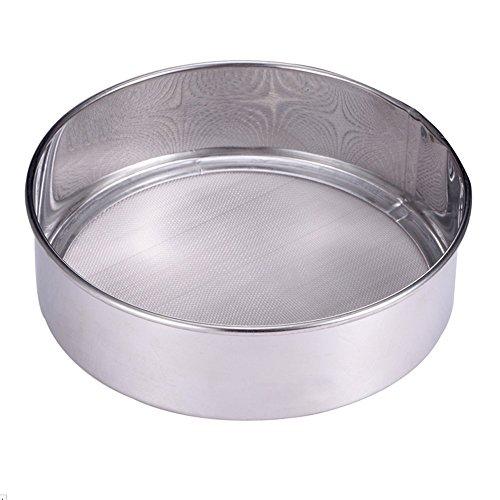 Lautechco 60 Mesh Stainless Steel Ultra Fine Mesh Flour Sifting Sifter Sieve Strainer Cake Baking Kitchen