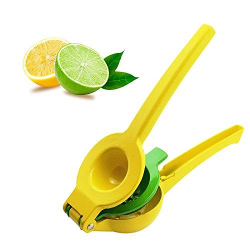Lemon Squeezer Manual Hand Press Citrus JuicerKuxislxm 2 in 1 Premium Quality Heavy Duty Lemon Lime Orange Metal Enameled Aluminum Squeezer Manual Fruit Citrus Juicer For Kitchen Or Bar Yellow
