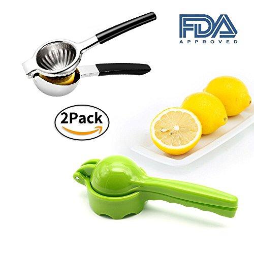 2 Packs Lemon Lime Squeezer - Manual Citrus Press Juicer FDA Approved Black  Green