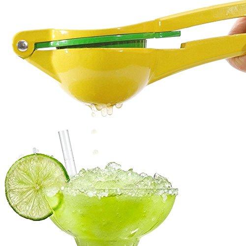 Lemon SqueezerKOLIER 2 in1 Manual Citrus Press Juicer Premium Quality Metal Manual Lemon Lime Orange Juice Squeezer Fruit JuiceYellowGreen