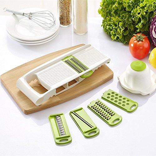 Blabroge 5 Pcsset Multi-function Stainless Steel Vegetables Mandoline Slicer Blades Cutter