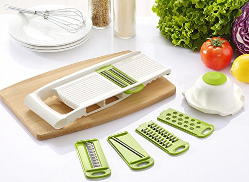 BsterLF Kitchen Vegetable Slicer Mandoline Slicer Grater Set