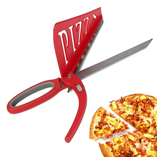 Hanperal 2 in 1 stainless steel Pizza Scissors Pizza Slicer Cutter with spatula