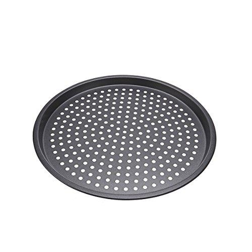 OUNONA 125-inch Non-Stick Pizza Crisper Tray,Nonstick Pizza Pan Baking Tray Plate with Holes
