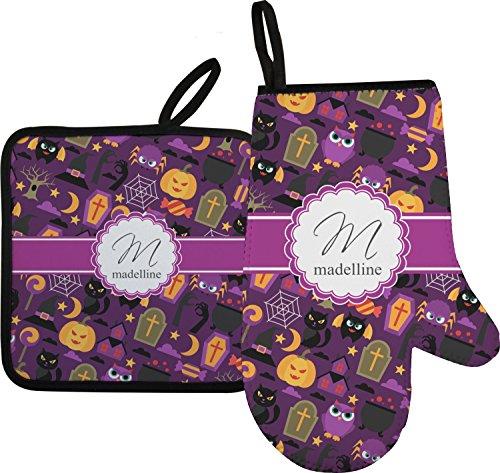 Halloween Oven Mitt Pot Holder Personalized