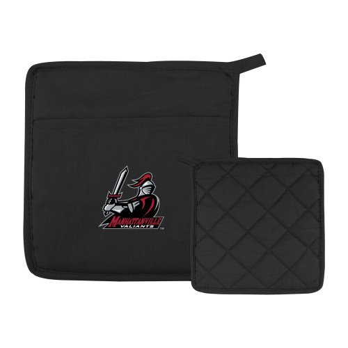 Manhattanville Quilted Canvas Black Pot Holder Primary Mark