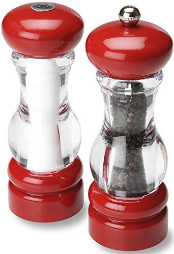 Olde Thompson Pepper Mill Salt Shaker Set 7 RedClear