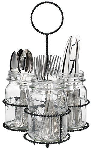 Home Essentials Del Sol Mason Jar Flatware Caddy