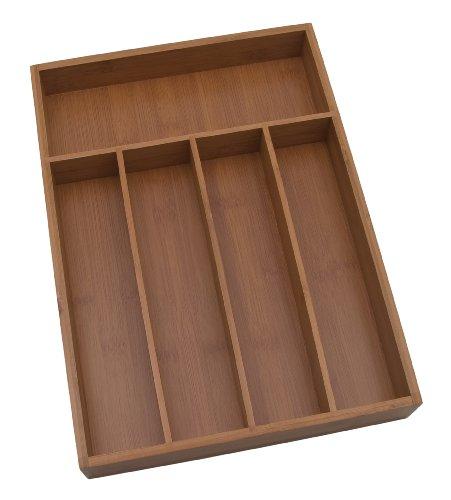 Lipper International 8876 Bamboo Flatware Organizer 5 compartments 10-14 x 14 x 2 -Inch
