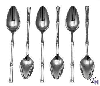 Ricci Flatware Bamboo Grapefruit Spoon Set