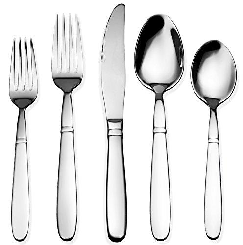 Bruntmor 40-Piece 1810 Stainless Steel Crux Silverware Cutlery Set