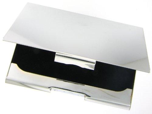 Card Case Sterling Silver Plate Black Velvet Lining Business