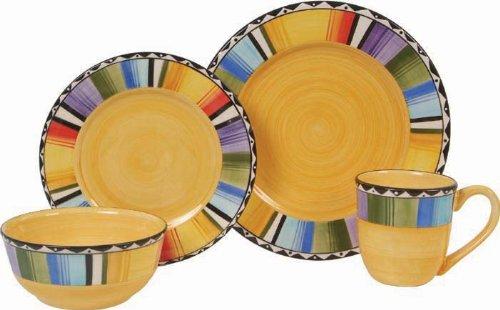 Gibson Home Fandango 16-Piece Dinnerware Set GoldVarious