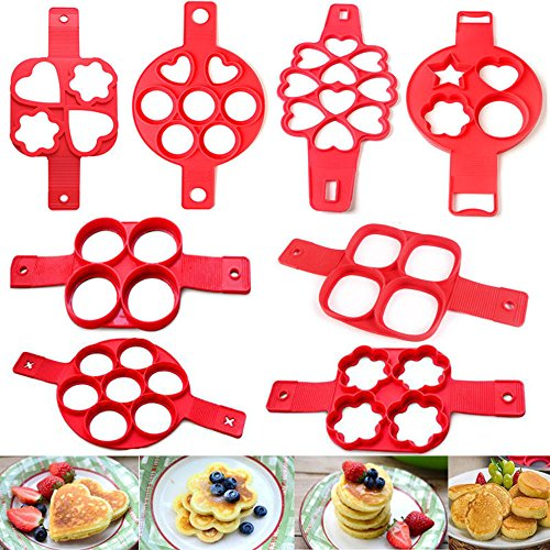 Food Grade Silicone Nonstick Pancake Maker Egg Ring Maker Perfect Cooking Tool
