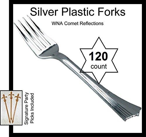 120 Forks REFLECTIONS Plastic Silverware Looks Like Silver Cutlery