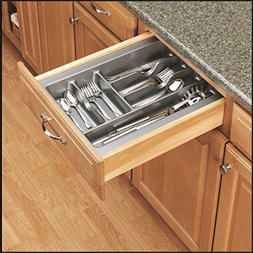 Rev-A-Shelf - GCT-2S-52 - Medium Glossy Silver Cutlery Tray Drawer Insert