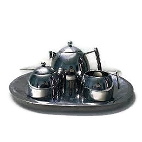 Elegance Stainless Steel Tea Set of 4 Silver