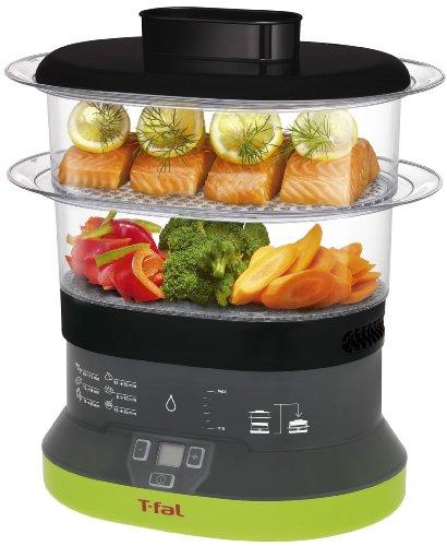 T-fal VC1338 Balanced Living Compact 2-Tier Electric Food Steamer 4-Quart Black