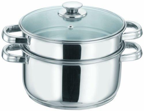Vinod Cookware 2 Tier Steamer Silver 20Cm