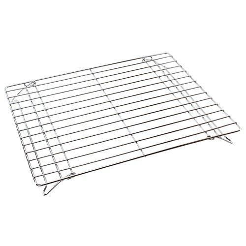 Spares2go Chrome Folding Base Shelf For Diplomat Oven Cooker 380Mm X 325Mm